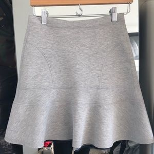Jcrew scuba neoprene grey skirt
